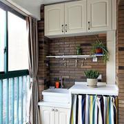 韩式风格清新阳台橱柜装饰