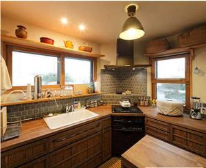 日式小厨房装修效果图