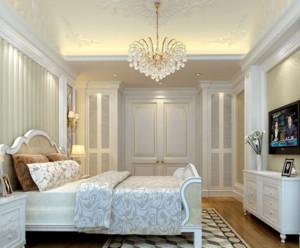 卧室家居装饰水晶吊灯装修设计效果图