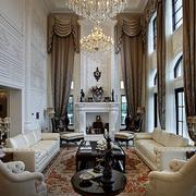 法式风格高挑奢华客厅装饰
