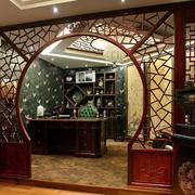 中式古韵深色拱门装饰
