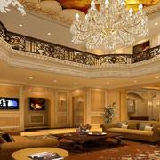 欧式风格奢华客厅灯饰装饰