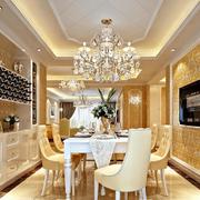 欧式奢华精致白色酒柜装饰