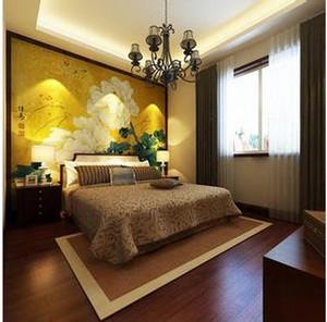 东南亚简约卧室窗帘装饰