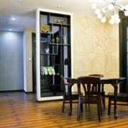 后现代风格餐厅置物架隔断装饰