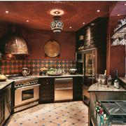 沉稳色调厨房造型图