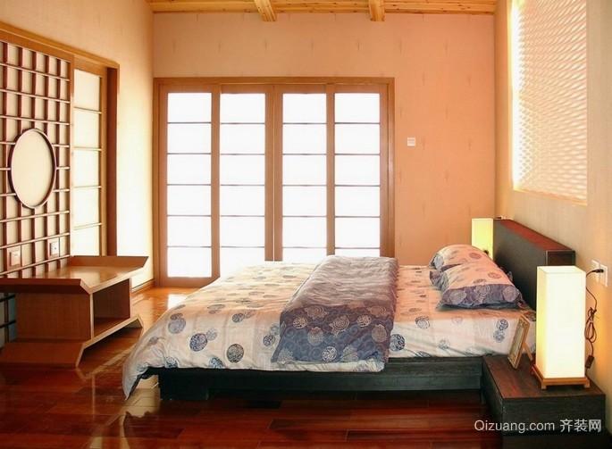 复式楼欧式卧室推拉门装修效果图