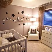 现代简约风格儿童房背景墙装饰