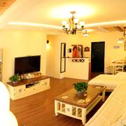 美式地中海风格客厅背景墙装饰