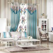 简约田园印花客厅窗帘装饰