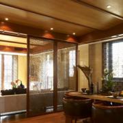 东南亚简约风格餐厅隔断装饰
