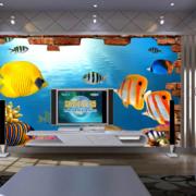 海洋世界客厅电视墙饰装饰