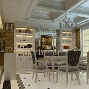 欧式风格简约客厅酒柜装饰