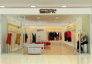 现代优雅服装店装修设计效果图