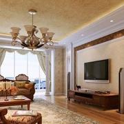 美式客厅电视墙欣赏