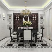 室内餐厅瓷砖简约款