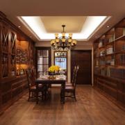 大户型中式风格餐厅酒柜