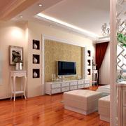 简约风格清新客厅电视柜设计