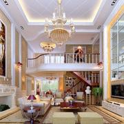 复式楼欧式风格客厅吊顶装饰