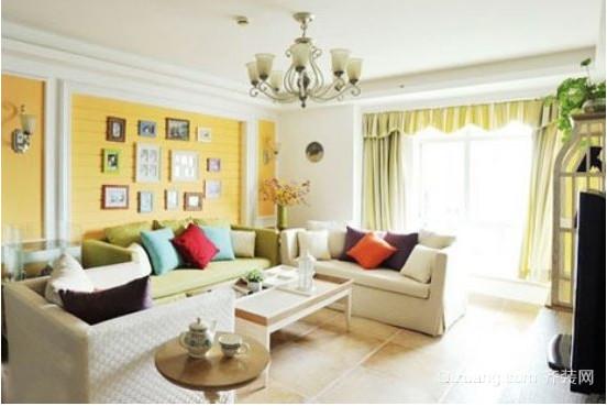 地中海简约三室一厅装修效果图