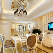 欧式风格客厅餐桌装饰