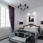 欧式风格清新卧室飘窗装饰