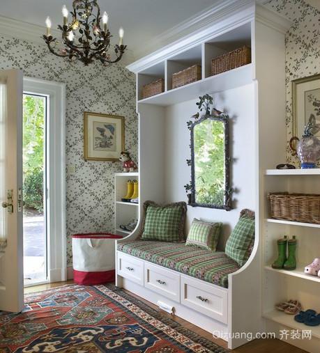 简约时尚的美式玄关装修设计图