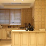 美式清新风格厨房整体橱柜装饰