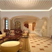 简欧风格复式楼客厅地板装饰