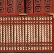 中式贵族简约原木屏风设计