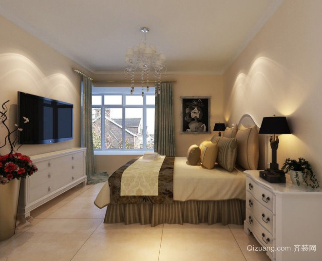 30平米简欧风格卧室装修效果图