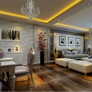 欧式简约风格客厅吊顶装饰