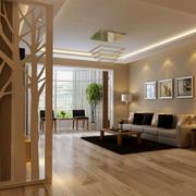 美式简约风格玄关地板装饰