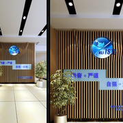 公司过道形象墙效果图