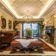 大型奢华别墅客厅吊顶装饰