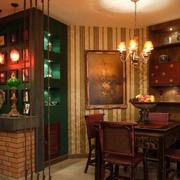 东南亚酒窖吧台装饰