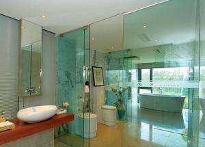卫生间玻璃隔断门效果图