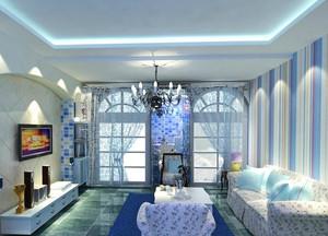 地中海客厅飘窗装饰效果图