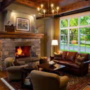 美式别墅简约风格客厅飘窗装饰