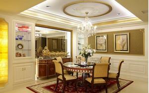 巴洛克餐厅简约风格吊顶装饰
