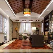 美式简约风格客厅窗帘装饰