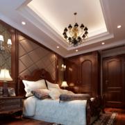 美式简约卧室吊顶装饰