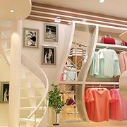 欧式简约风格服装店背景墙装饰