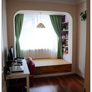 日式原木深色卧室榻榻米装饰