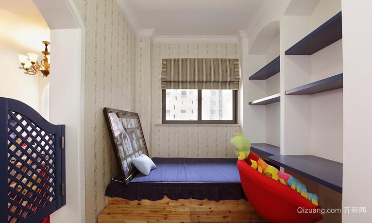 大户型精致时尚卧室地台背景墙装修效果图