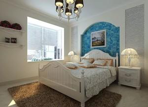 欧式风格儿童房床头背景墙装饰