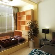 日式原木浅色阳台榻榻米装饰