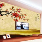 中式山水画电视背景墙装饰