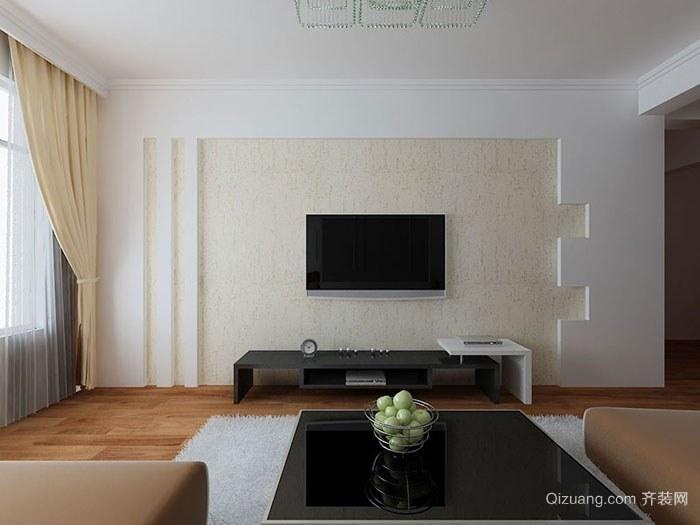 欧式客厅硅藻泥电视背景墙装修效果图