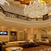 复式别墅欧式奢华风格吊顶装饰